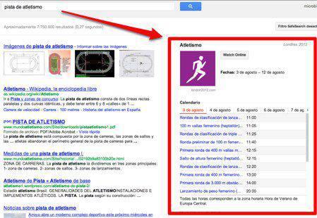 Resultado Google Juegos Olimpicos | Microbio Comunicación