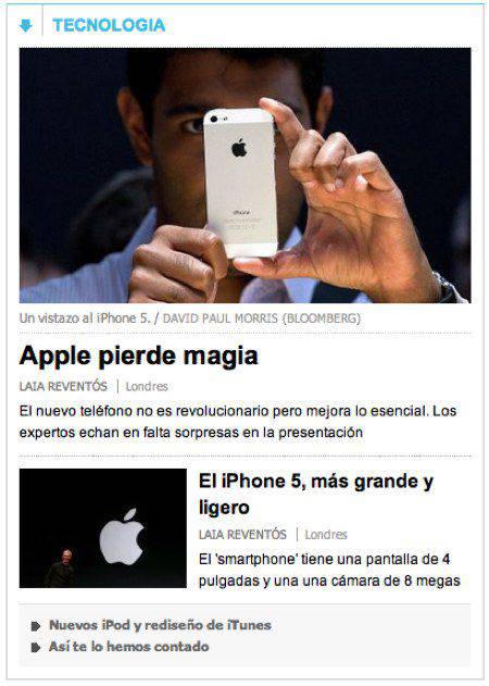 EL PAÍS Presentación iPhone 5 | Microbio Comunicación