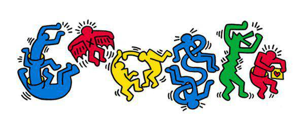 Keith Haring_s 54th Birthday Doodle | Microbio Comunicación