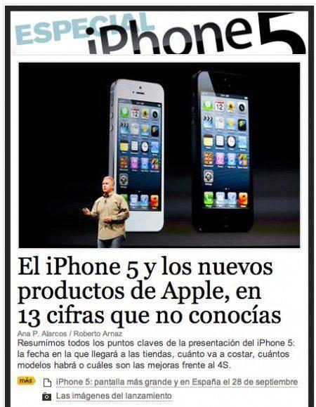 Lainformacion.com iPhone | Microbio Comunicación