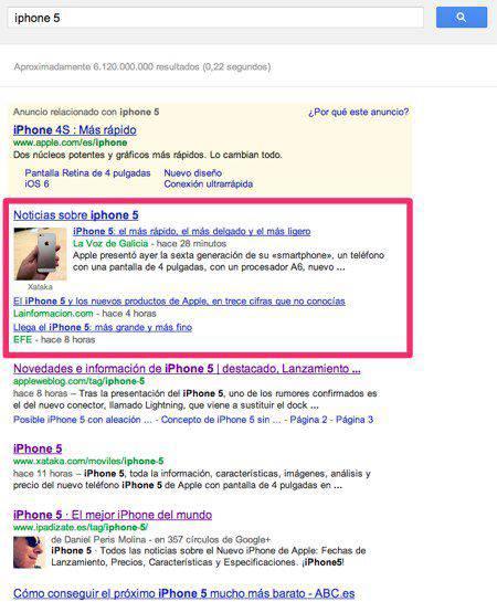 Presentación iPhone 5 Noticias | Microbio Comunicación