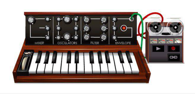 Robert Moog_s 78th Birthday Doodle   Microbio Comunicación