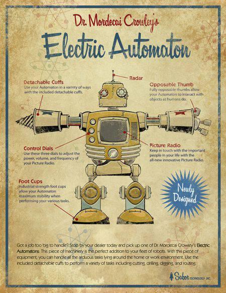 steampunk robot   Microbio Comunicación