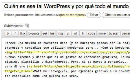 Gestor de Contenidos WordPress | Microbio Comunicación