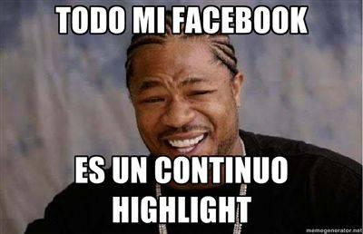 Meme highlight facebook
