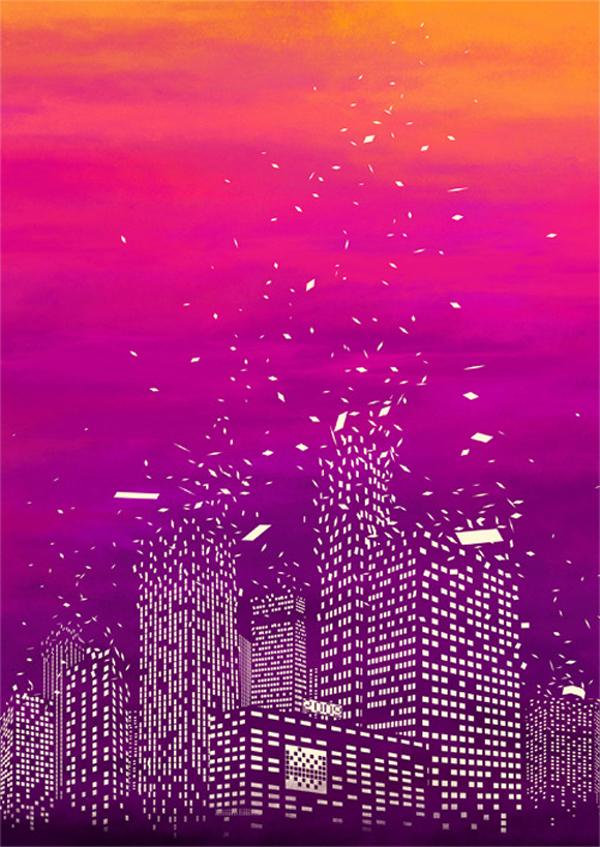 Ilustraciones Espacio Negativo Tang Yau Hoong | Microbio Comunicación