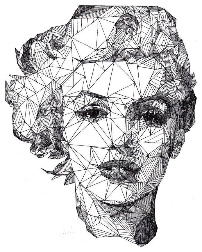 Ilustraciones con Boligrafo Josh Bryan Marilyn Monroe | Microbio Comunicación