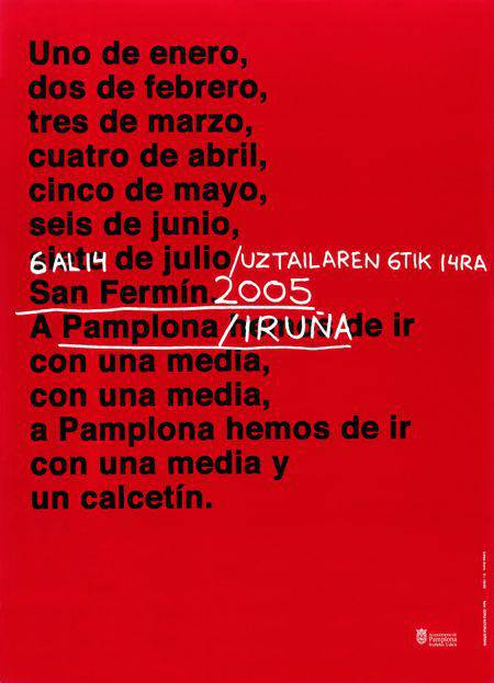 Cartel San Fermín 2005 Gorka Aizpurua