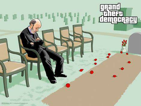 Grand Theft Democracy DS Arranz | Microbio Comunicación