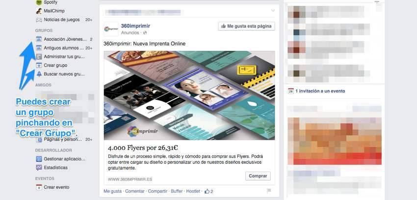 Crear Grupo en Facebook
