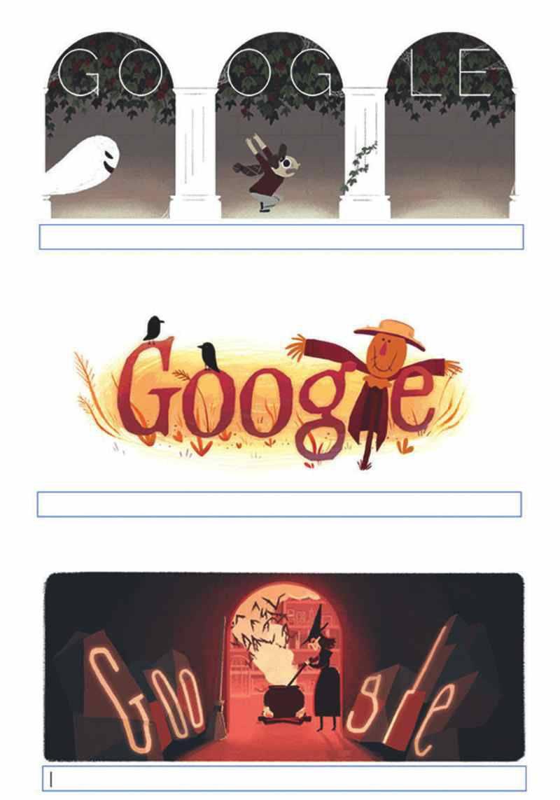doodle de Google Halloween | Blog Microbio.tv