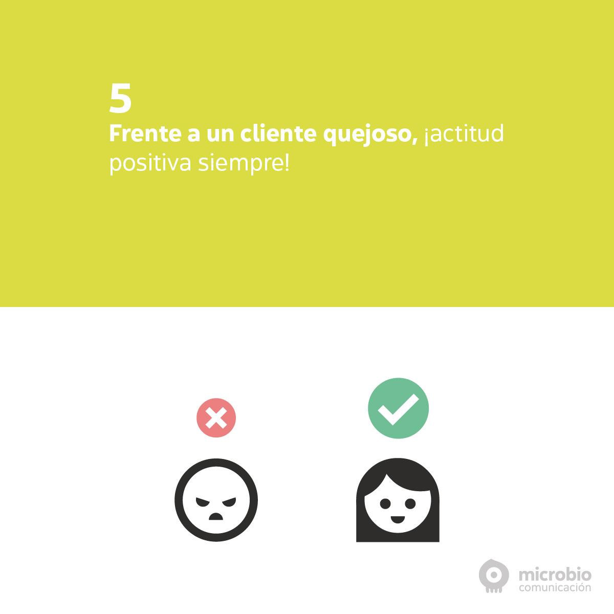 Quejas en redes sociales: actitud positiva