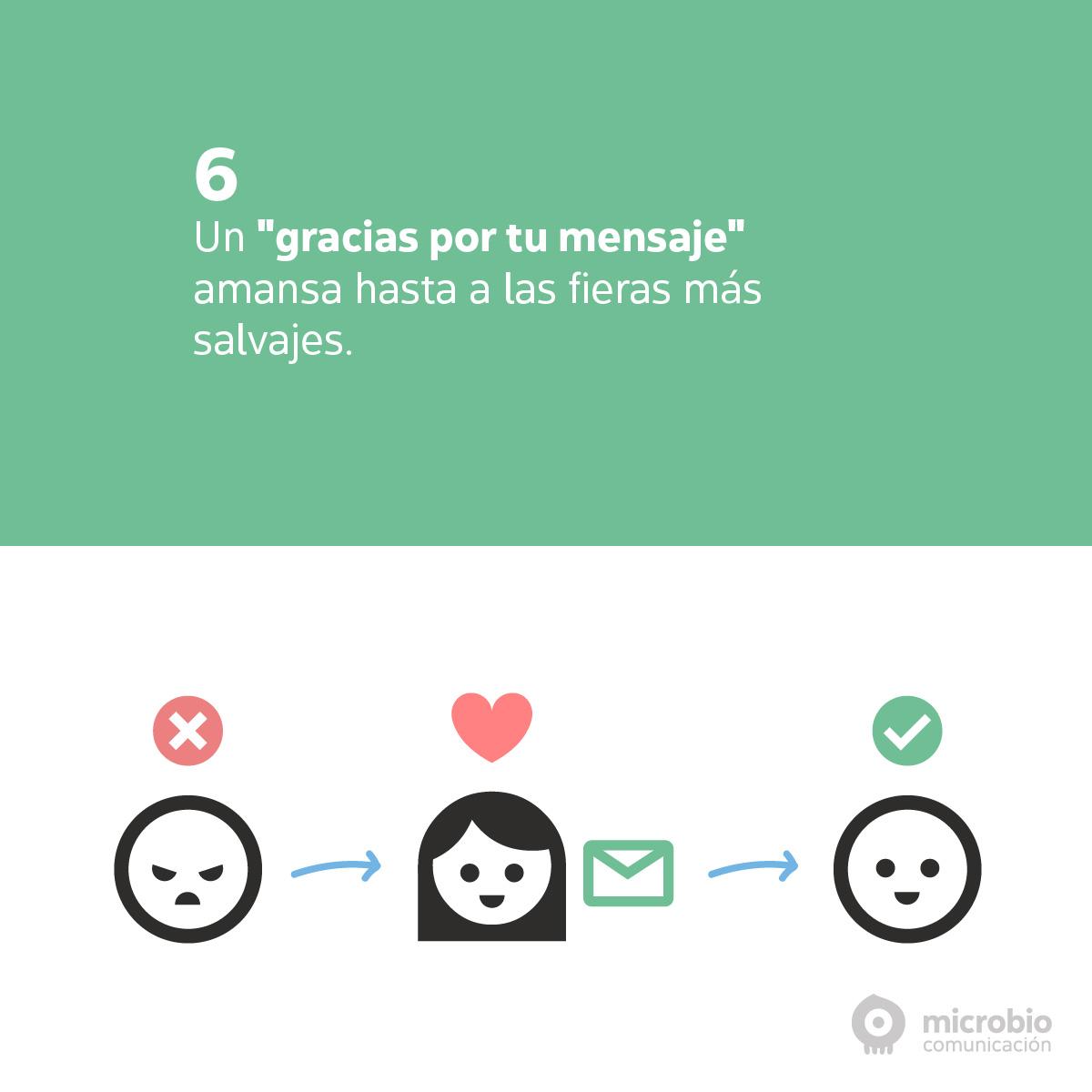 Quejas en redes sociales: sé amable