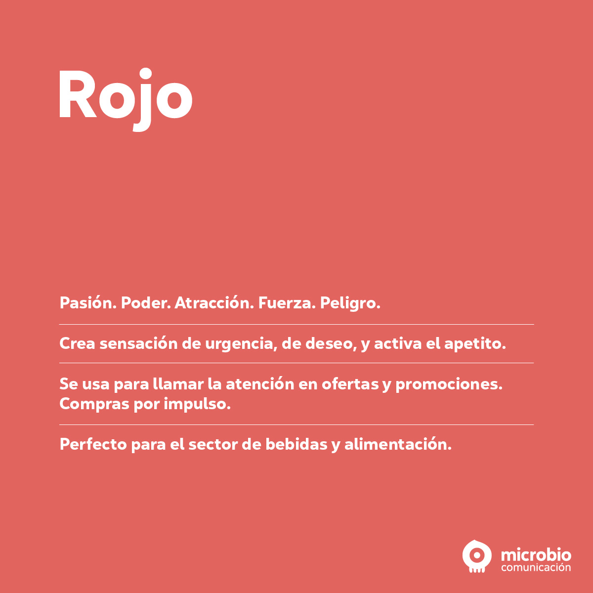 Los colores del marketing: rojo